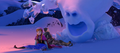 Anna and Kristoff try to escape Marshmallow.png