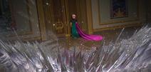 Elsa produces ice spikes