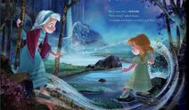Young Anna and Elsa searching for the Secret River