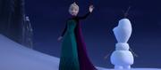 Elsa recreates Olaf