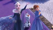 Elsa , Olaf , Anna 2