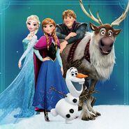 Elsa , Anna , Kristoff , Olaf , Sven 2