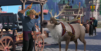 Sven and Kristoff in village