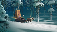 Sven and Olaf returning to Arendelle