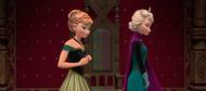 Anna sad at Elsa's words