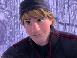 Kristoff in ice forest
