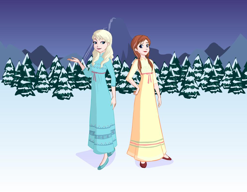 Pidżamy w stylu Frozen
