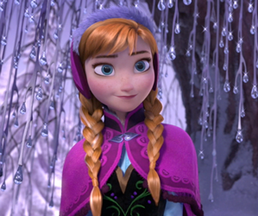 Anna in ice forest