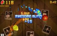 Fruit Ninja awesome Blitz
