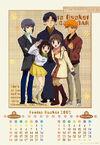 Fruits Basket 2002 Calendar - Yuki, Shigure, Kagura, Tohru and Kyo