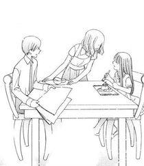 Isuzu with her parents