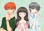 Kyo, Tohru and Yuki