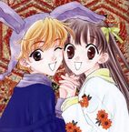 Tohru and Momiji holding hands
