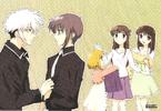 Haru. Yuki, Kisa, Tohru & Kagura Wallpaper 2001