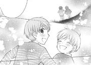 Young Hajime and Mutsuki playing