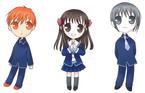 Chibi Kyo, Tohru and Yuki