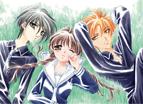 Yuki, Tohru & Kyo on grass