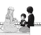 Tohru teaching Shiki and Akito hand games