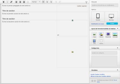 Modèle de page de création de page