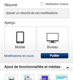 Aperçu Mobile