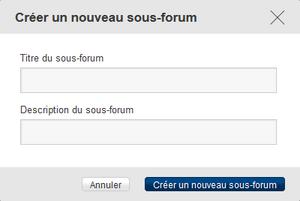 Forum - créer un nouveau sous-forum