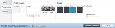 FR Theme designer - customize tab