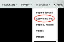 Bouton Activité du wiki