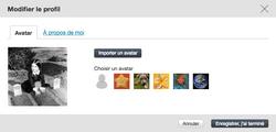 Importer un avatar