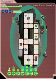 Energy beam ship