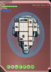 Rock courier ship