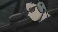 Daisuke prepares to shoot the poison gas EP2
