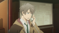 Haru takes the call from the Security Division EP1