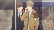 Haru takes Ryo's earpiece to listen EP1
