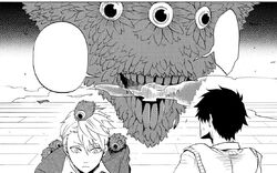 Hanae and Haruitsuki at the yōkai's lair