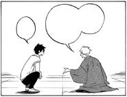 Haruitsuki asking Hanae for his fee