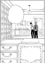 Hanae and Haruitsuki enter the room
