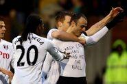 Fulham 1-1 Southampton (Berbatov celebration)