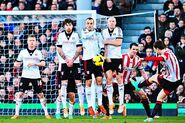 Fulham 1-4 Sunderland (Johnson 1stgoal)