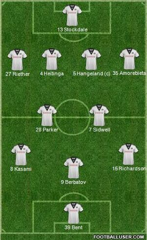 Fulham starting XI (2013-14)