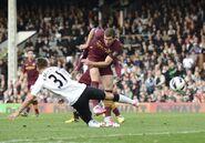Fulham 1-2 Man City (Dzeko goal)