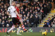 Fulham 0-3 Southampton (Lallana goal)