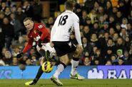 Fulham 0-1 Man Utd (Rooney goal)