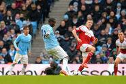 Man City 5-0 Fulham (Toure 3rd goal)