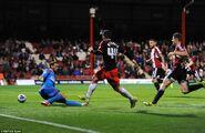 Brentford 0-1 Fulham (McCormack goal)