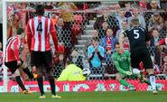 Sunderland 2-2 Fulham (Gardner penalty)