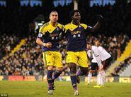 Fulham 1-2 Swansea (Hughes own goal)