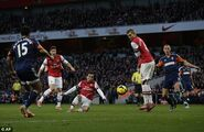 Arsenal 2-0 Fulham (Cazorla 1st goal)