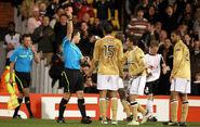 Fulham 4-1 Juventus (Zebina red)