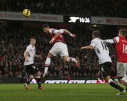 Arsenal 3-3 Fulham (Giroud 2nd goal)