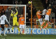 Blackpool 1-2 Fulham (Hangeland goal)